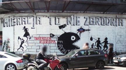 Mural nieopodal siedziby Panoptykonu