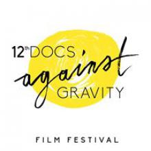 Logo festiwalu Docs against gravity
