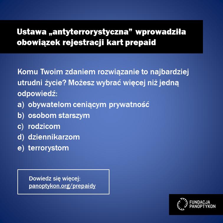 Rejestracja prepaidów
